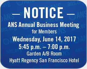 ANS Annual Business Meeting