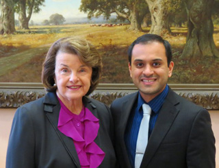 Senator Dianne Feinstein and Harsh Desai