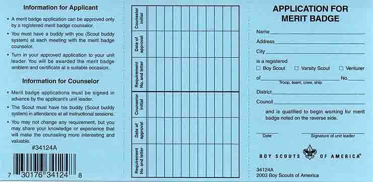 BSA Blue Card image