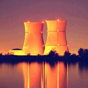 orange cooling towers