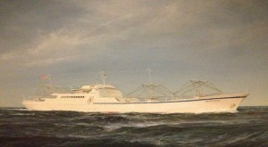 Painting depicting N.S. Savannah, foyer of Main Dining Room.  Photo for ANS by Will Davis.