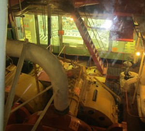 This spectacular photo clearly depicts the control room at the after end of the NS Savannah's engine room.  Click to enlarge.  Photo for ANS by Paul Bowersox.