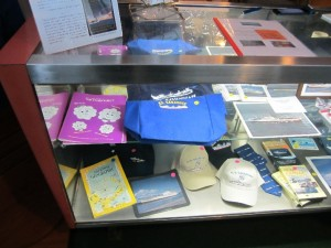 Many of us took advantage of the ship's well-stocked gift shop; these are only a few of the available items.  Photo for ANS by Paul Bowersox.