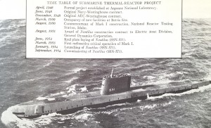 """This timeline of the first successful Pressurized Water Reactor type nuclear plant (the STR prototype) as well as the USS Nautilus that used a copy of it provides convenient comparison with the dates in this article and its predecessor.  From """"Selected Articles on Nuclear Power"""" - see 'sources.'"""
