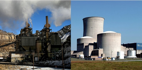 coal and nuclear