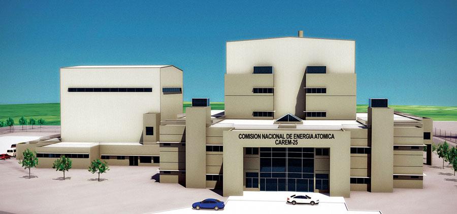 Further illustration of the CAREM 25 prototype plant, final version.  Courtesy CNEA.