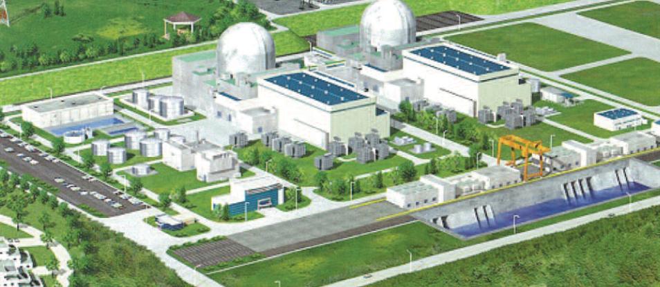 APR1400 units in an artist's conception; courtesy KEPCO E&C