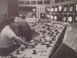 Control Room, Shippingport Atomic Power Station.  Westinghouse photo PRX-19630 from press release package on Shippingport in Will Davis collection.
