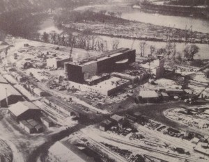 Shippingport Atomic Power Station under construction.  Westinghouse photo PR-18392 from Shippingport press package in Will Davis collection.