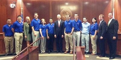 UF students with Attorney General Pam Bondi, Governor Rick Scott, Commissioner Adam Putnam, CFP Jeff Atwater