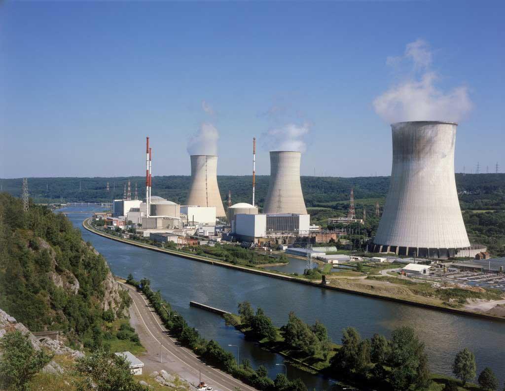 Tihange Nuclear Plant, Belgium.  Courtesy Electrabel.