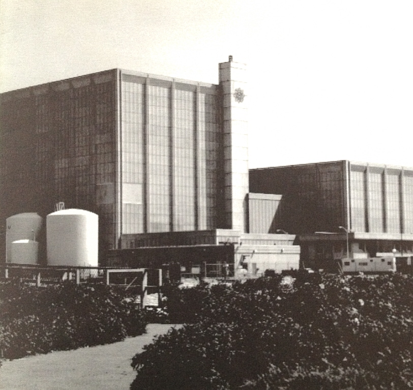 """Pilgrim Nuclear Station in 1981; from Boston Edison brochure """"About: Pilgrim Station"""" in Will Davis' library"""