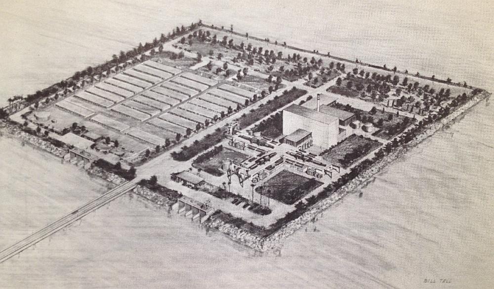 "Bolsa Island Project Concept; ""Water Production Using Nuclear Energy,"" Post/ Steele, University of Arizona Press 1966."