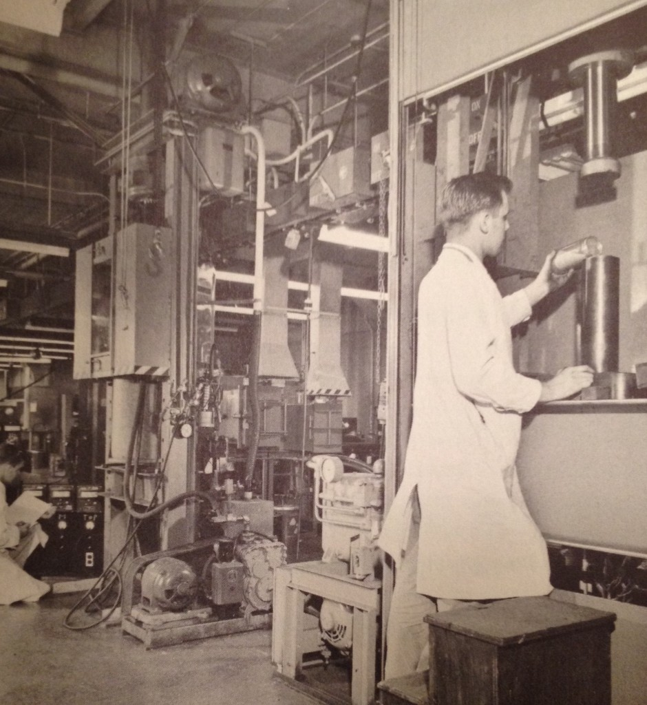 Powder Metallurgy Facility, Sylvania-Corning Nuclear Corporation, Bayside, New York.  From Will Davis' collection.