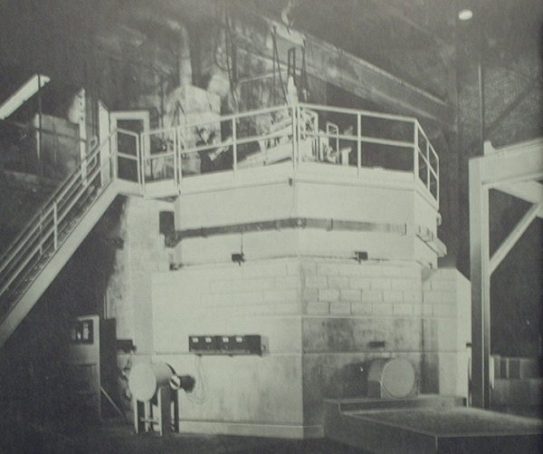 View inside Experimental Breeder Reactor facility from the 1950's.  From brochure in Will Davis library.