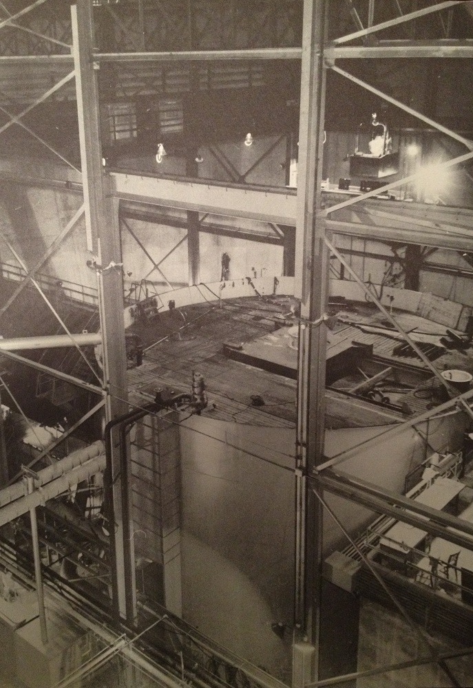 SIR (later, S1G) prototype plant submergence tank.  Press Photo in Will Davis library.