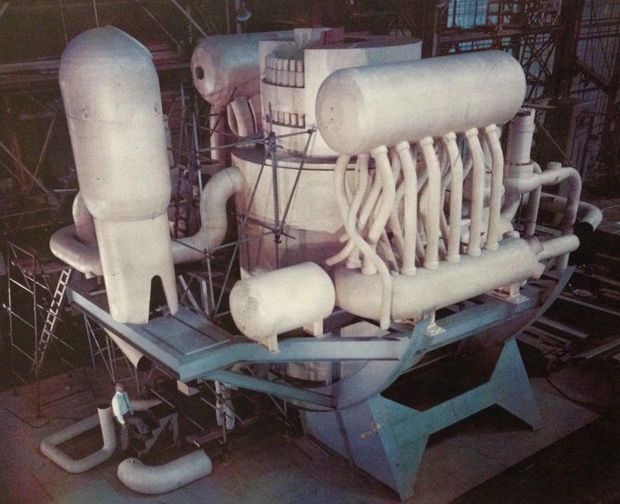 Full size mockup of Nuclear Steam Supply System for NS SAVANNAH.  Image courtesy NS Savannah Association.