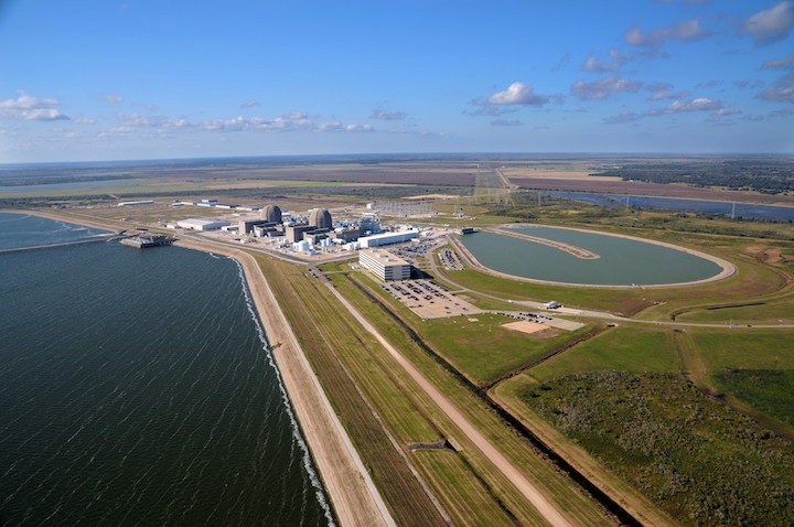 The air is clean and clear above the South Texas Project.  Photo courtesy STPNOC.