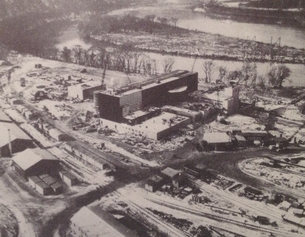 Shippingport Atomic Power Station under construction.  Photo PR-18392 from the original press package.