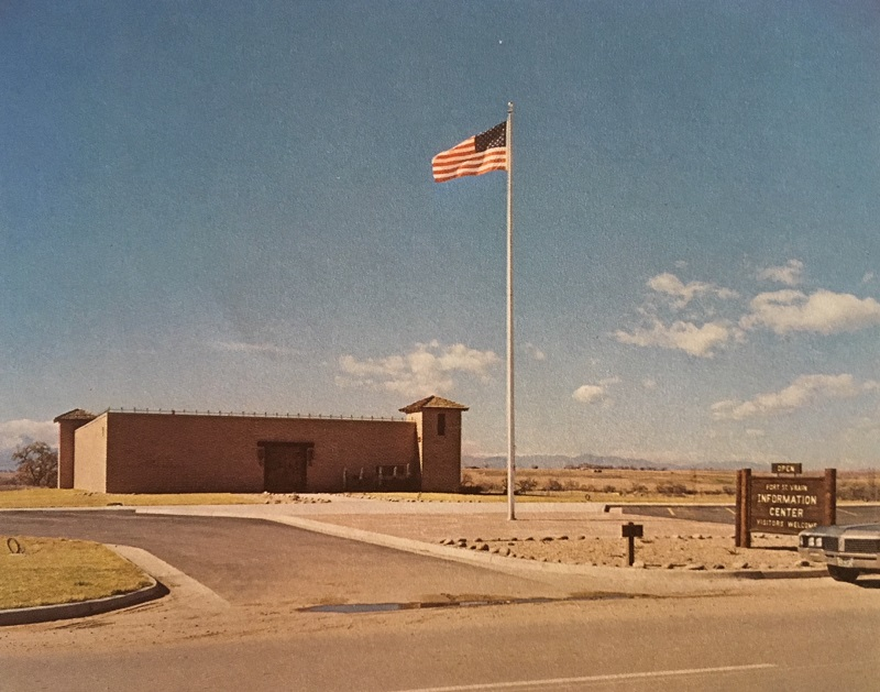 It is probably no accident that the Fort St. Vrain Public Information Center built across from the nuclear plant and the sketch of the original Fort appear so similar.  This center still stands today, amazingly.