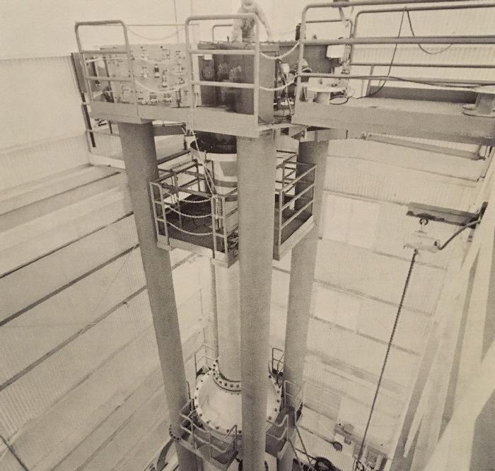 Fort St Vrain fuel handling machine at GA HQ