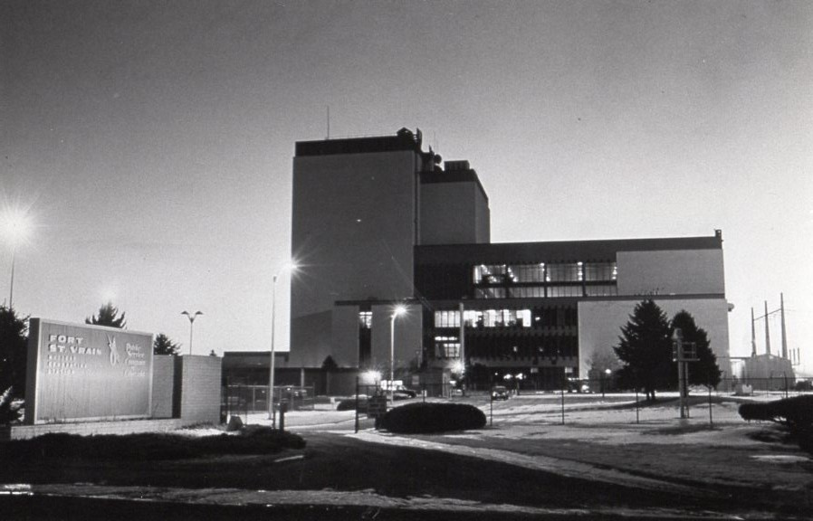 The Fort St. Vrain nuclear station completed and in operational service.  Press photo in Will Davis collection.