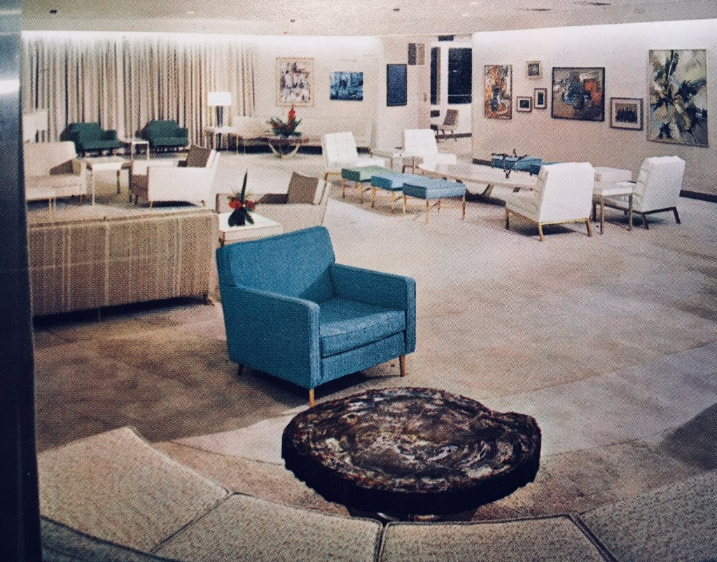 The comfortable lounge on board NS SAVANNAH at it originally appeared.