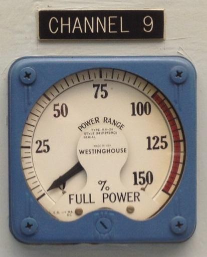 Reactor Power Meter, NS SAVANNAH.  Westinghouse KX-24 D'Arsonval type meter.   Photo by Will Davis.