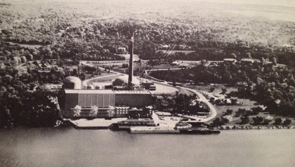 Indian Point 2 artists concept on photo of unit 1