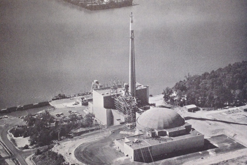 Indian Point Unit 1 bw photo WD library