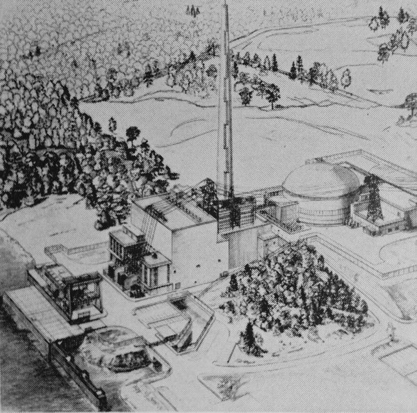 Indian Point Unit 1 drawing artists concept